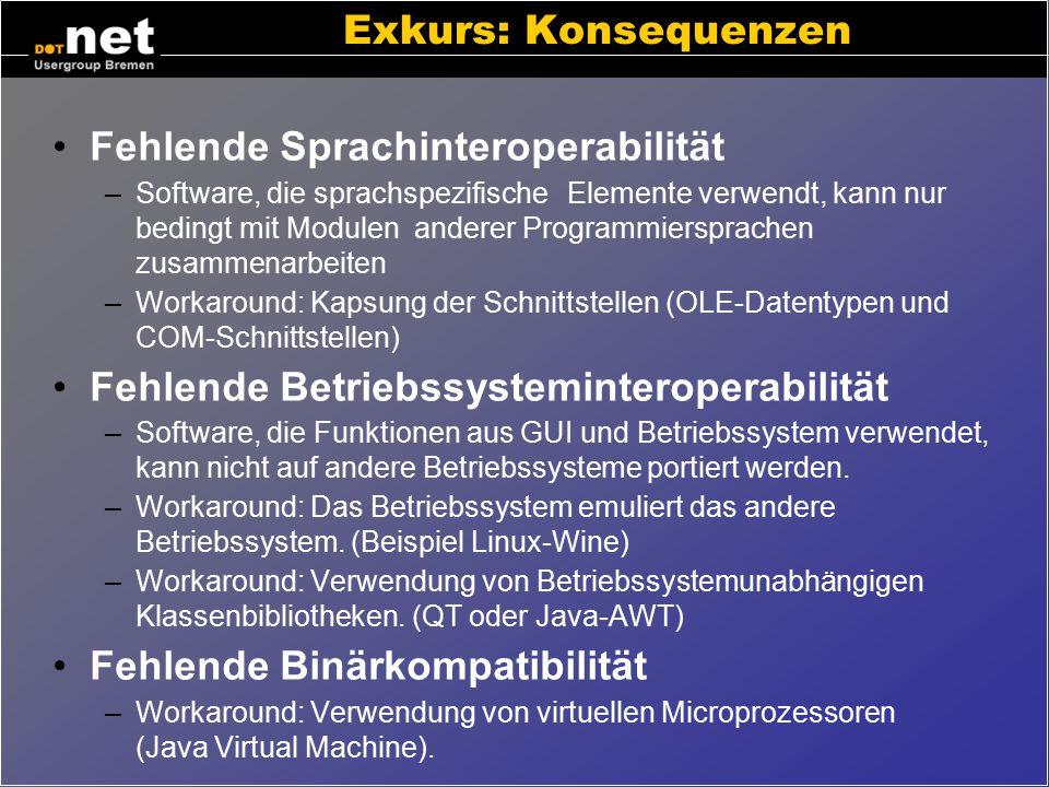 Fehlende Sprachinteroperabilität