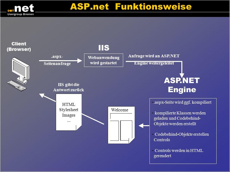 ASP.net Funktionsweise