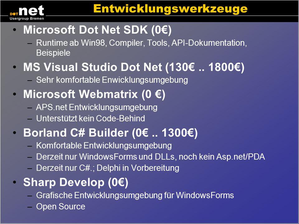 Entwicklungswerkzeuge