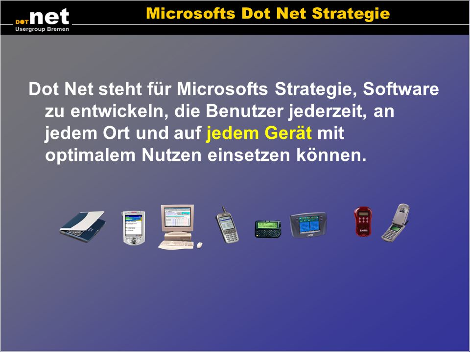Microsofts Dot Net Strategie