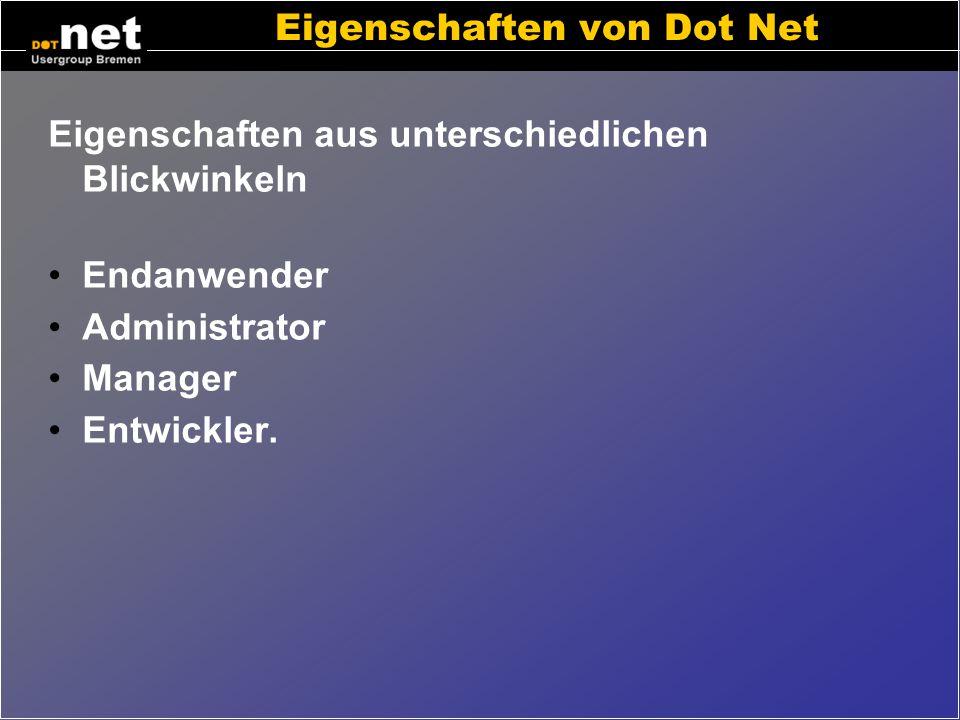Eigenschaften von Dot Net
