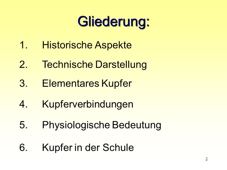 Gliederung: 1. Historische Aspekte 2. Technische Darstellung