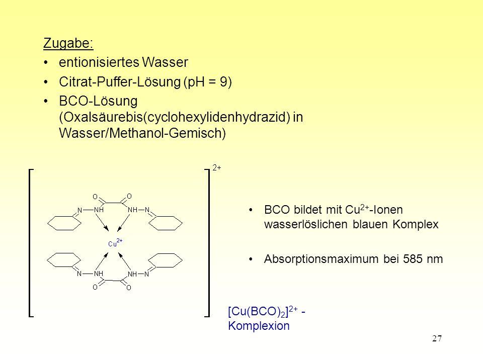 entionisiertes Wasser Citrat-Puffer-Lösung (pH = 9)