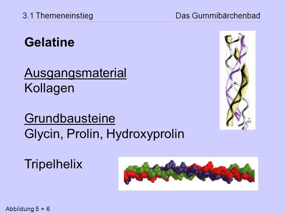 Glycin, Prolin, Hydroxyprolin Tripelhelix