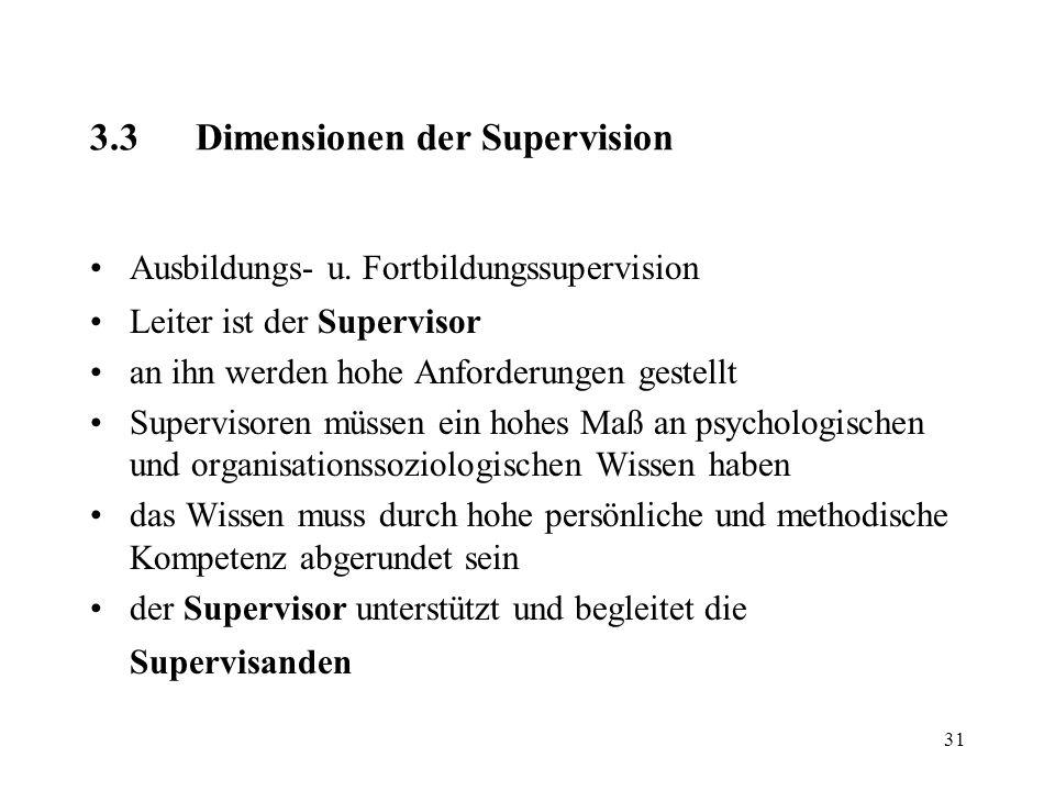 3.3 Dimensionen der Supervision