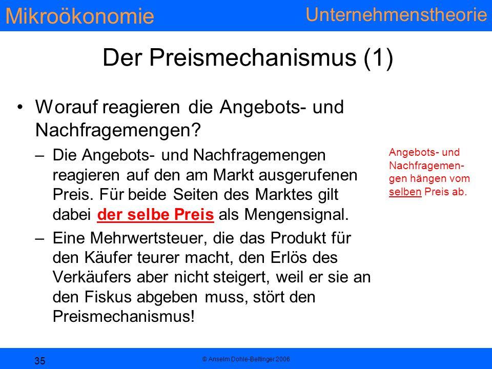 Der Preismechanismus (1)