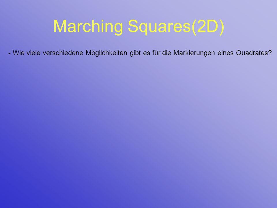 Marching Squares(2D) - Wie viele verschiedene Möglichkeiten gibt es für die Markierungen eines Quadrates