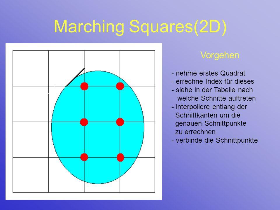 Marching Squares(2D) Vorgehen - nehme erstes Quadrat