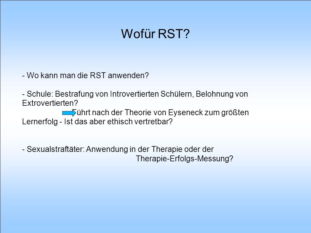 Wofür RST - Wo kann man die RST anwenden