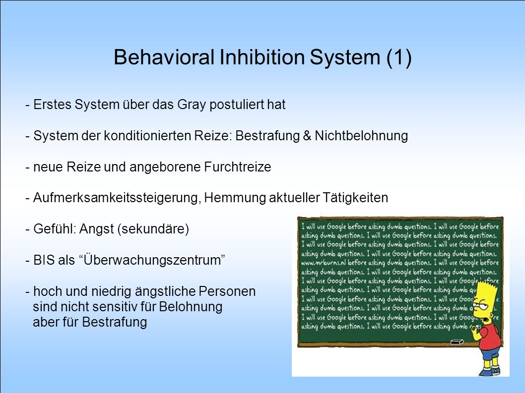 Behavioral Inhibition System (1)