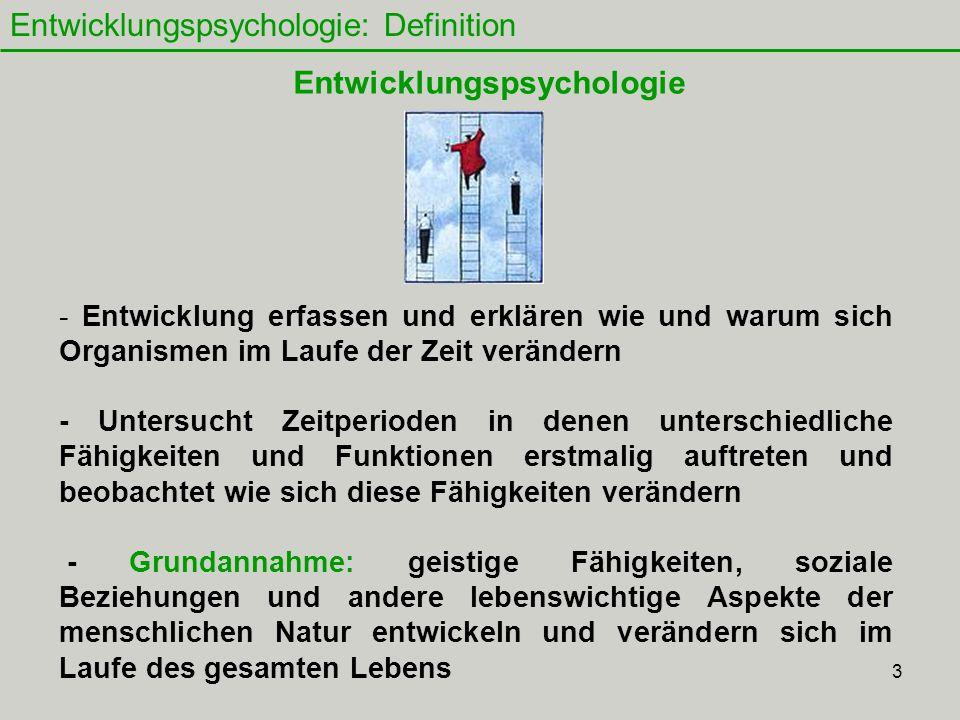 Entwicklungspsychologie: Definition