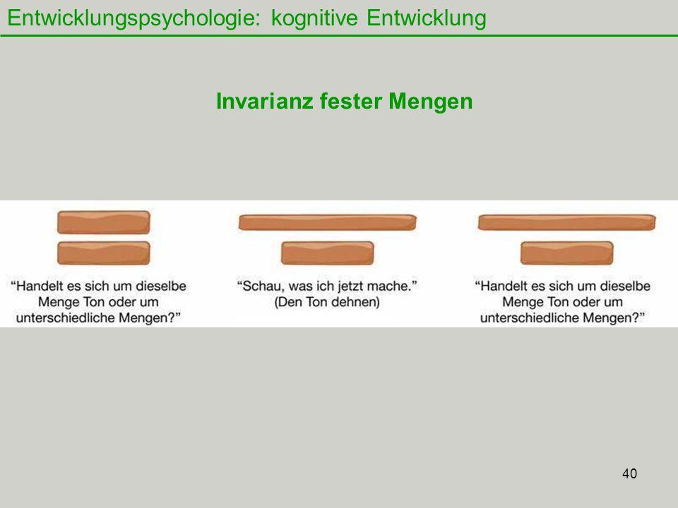 Invarianz fester Mengen
