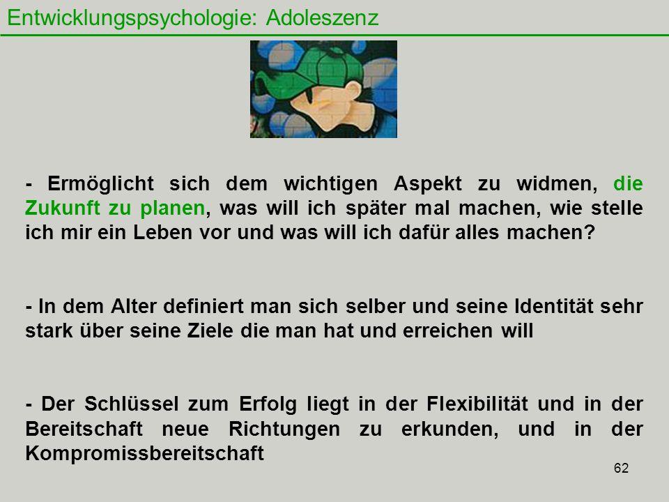 Entwicklungspsychologie: Adoleszenz