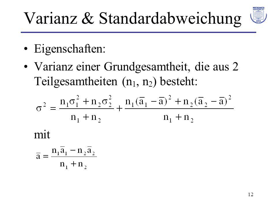 Varianz & Standardabweichung