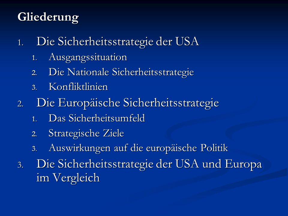 Die Sicherheitsstrategie der USA