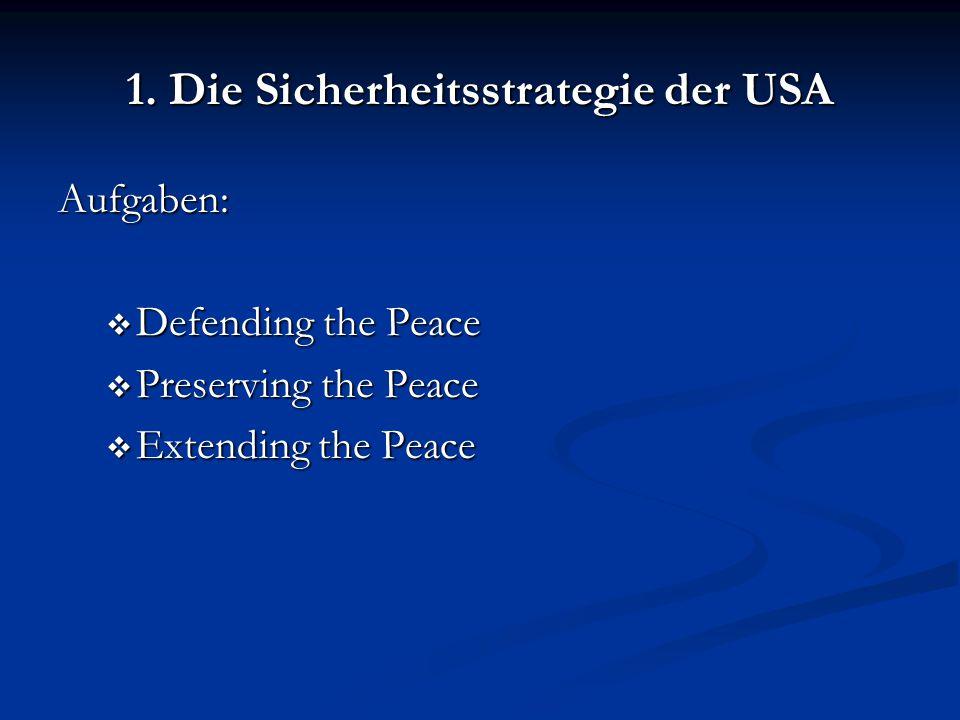 1. Die Sicherheitsstrategie der USA