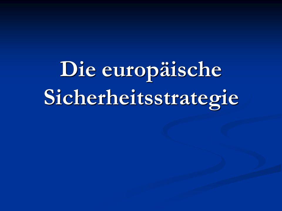 Die europäische Sicherheitsstrategie