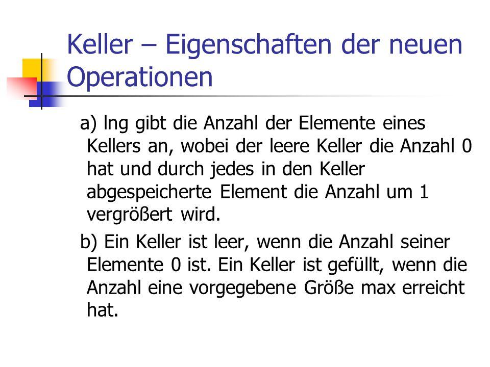 Keller – Eigenschaften der neuen Operationen