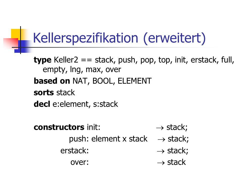 Kellerspezifikation (erweitert)