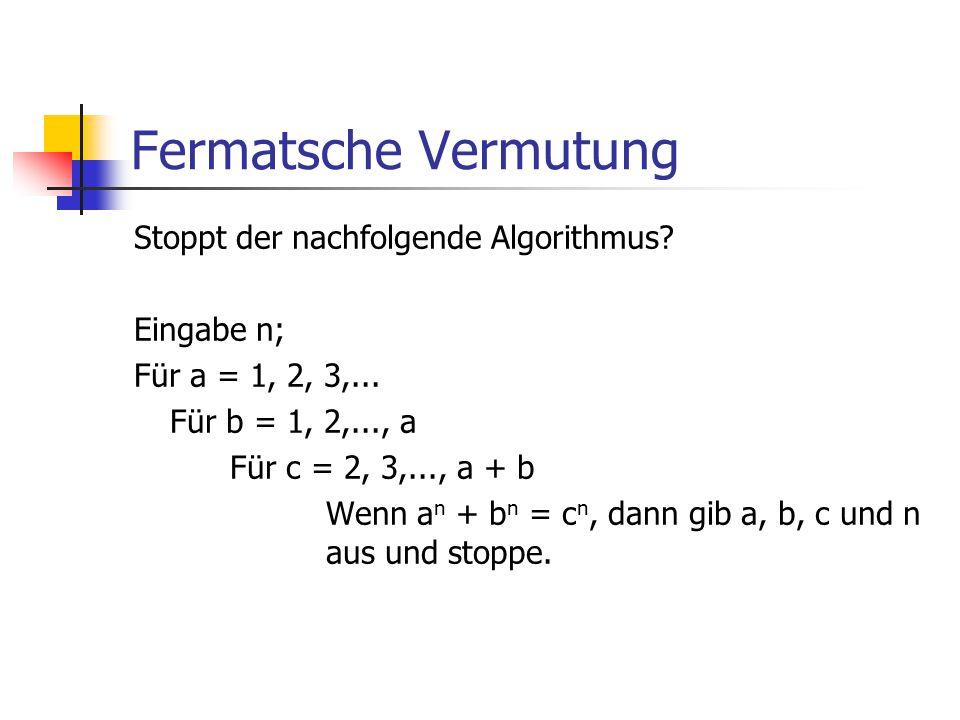 Fermatsche Vermutung