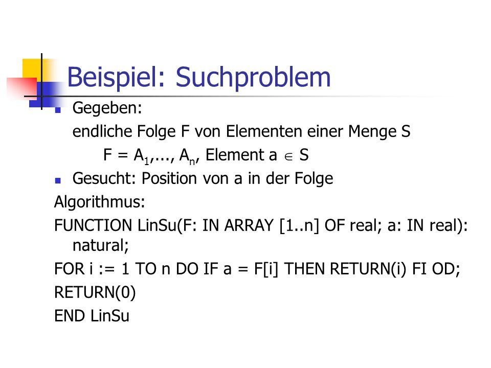 Beispiel: Suchproblem