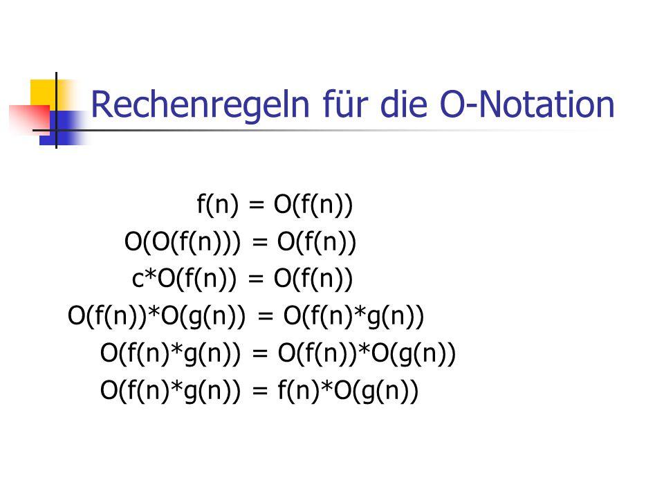 Rechenregeln für die O-Notation