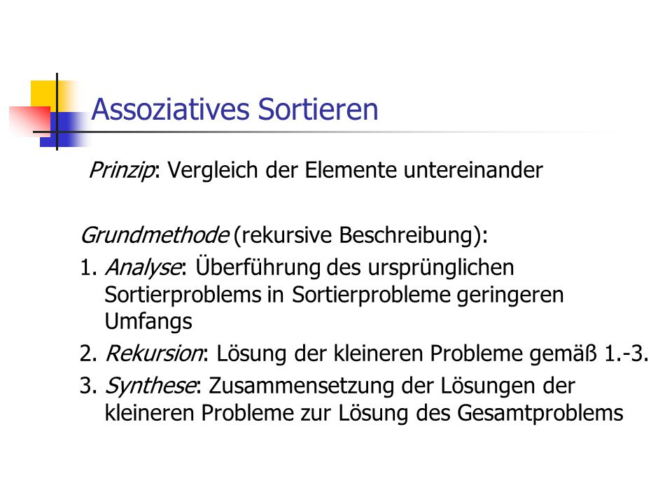 Assoziatives Sortieren