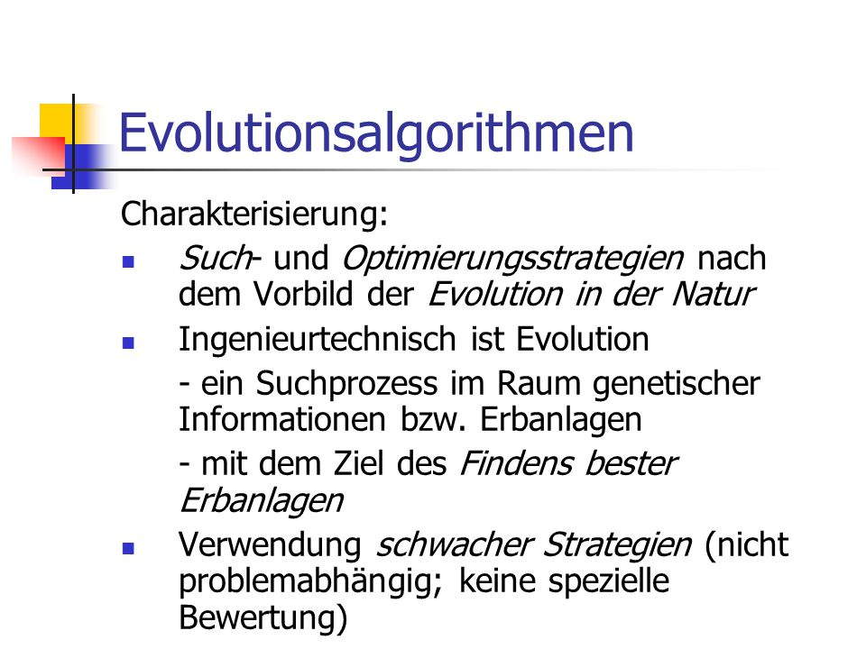 Evolutionsalgorithmen