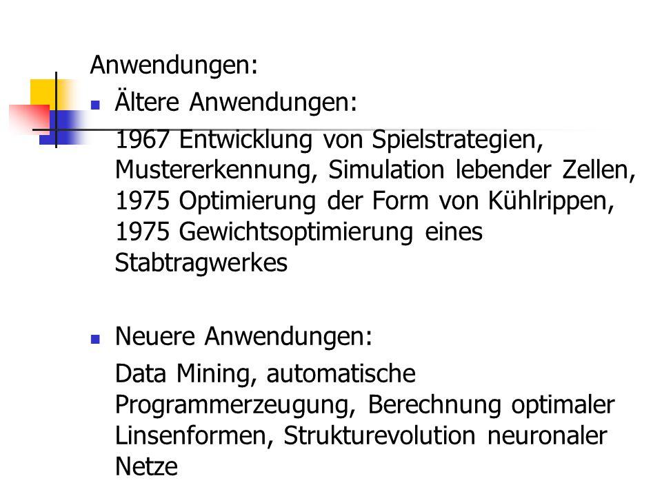 Anwendungen: Ältere Anwendungen: