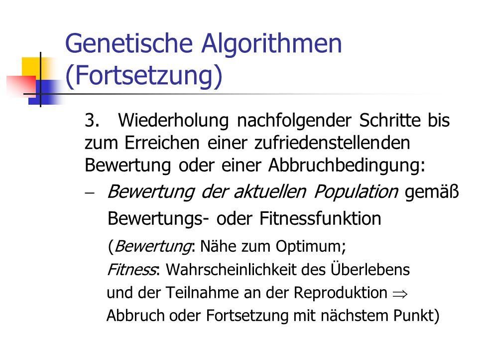 Genetische Algorithmen (Fortsetzung)