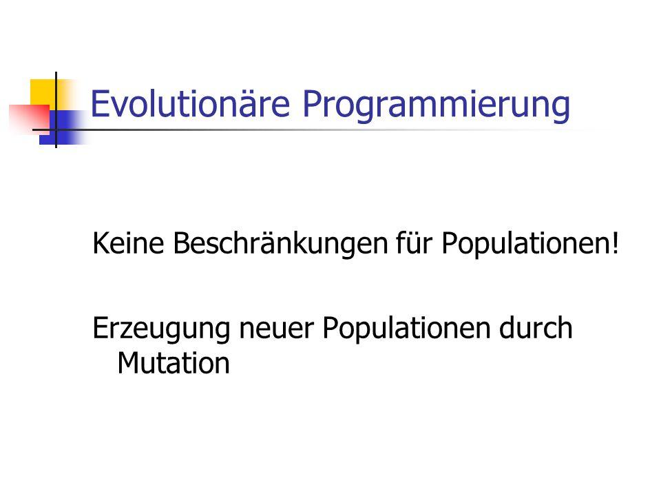 Evolutionäre Programmierung