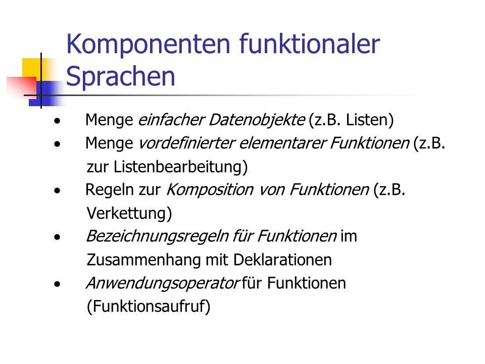 Komponenten funktionaler Sprachen