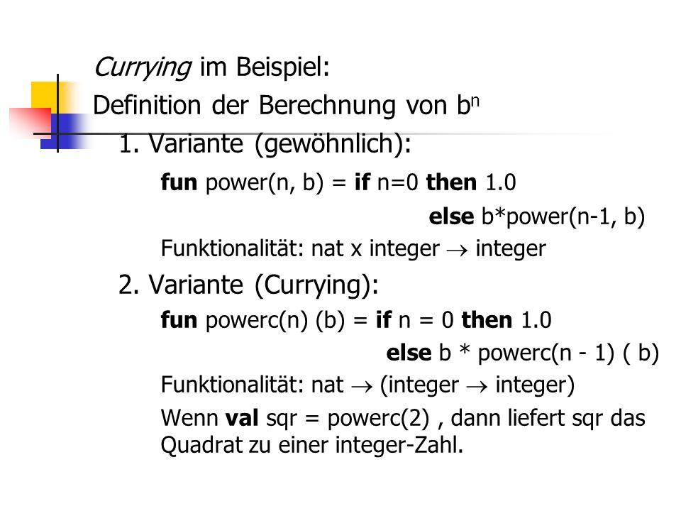 Definition der Berechnung von bn 1. Variante (gewöhnlich):