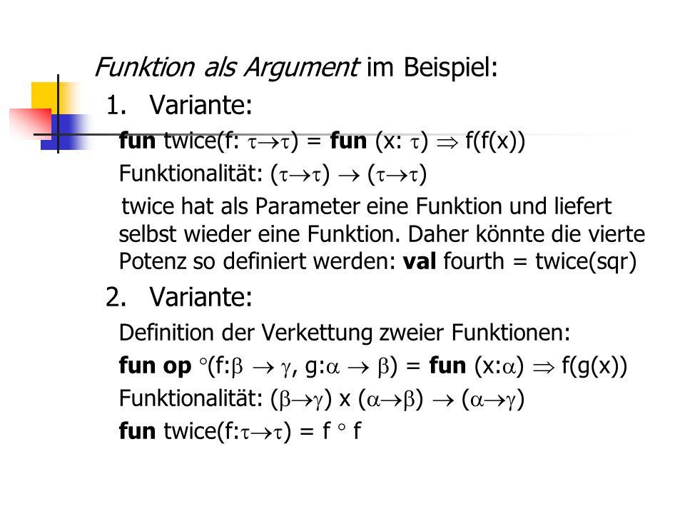 Funktion als Argument im Beispiel: