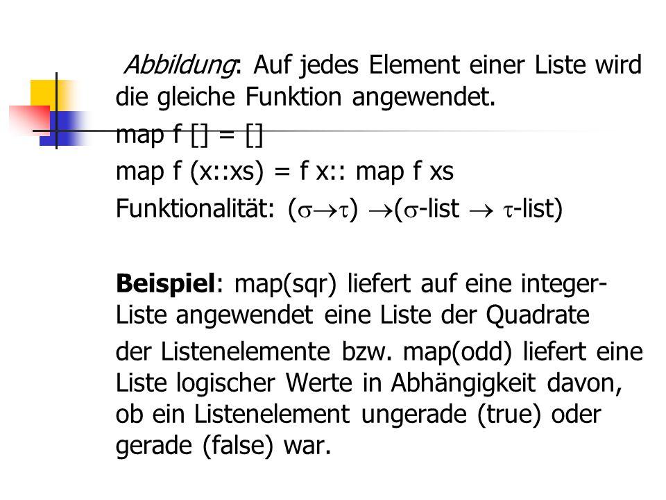 Abbildung: Auf jedes Element einer Liste wird die gleiche Funktion angewendet.