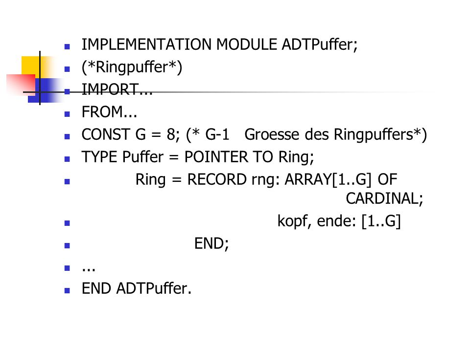 IMPLEMENTATION MODULE ADTPuffer;