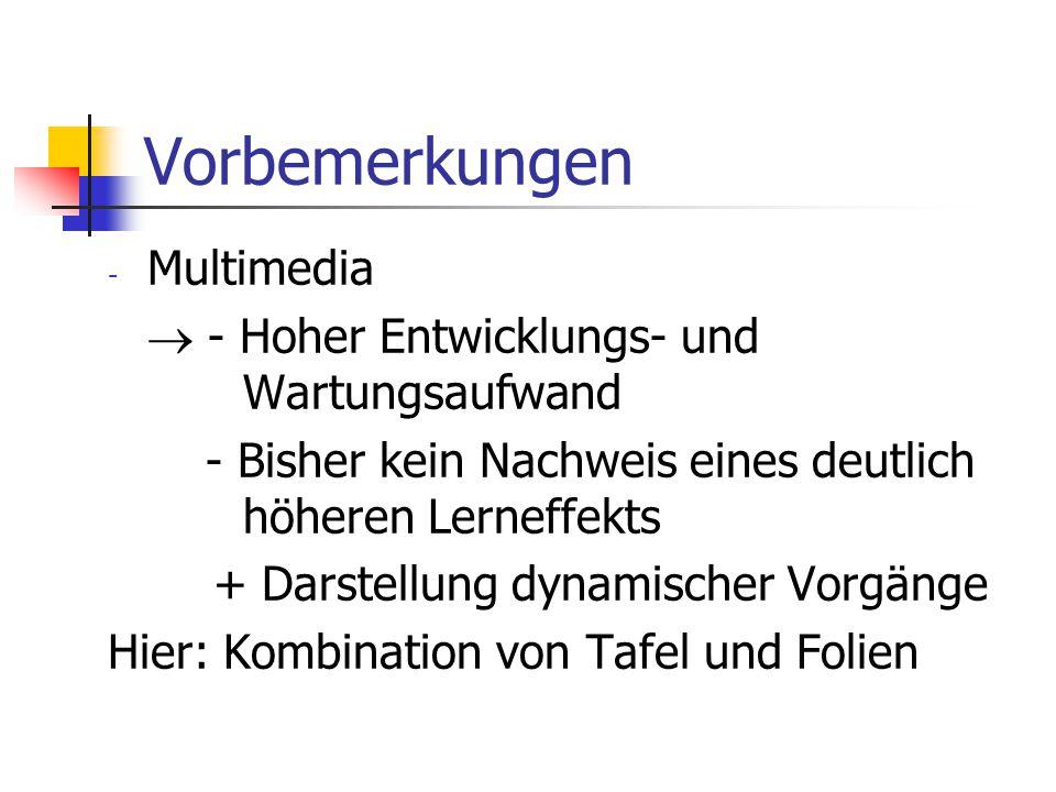 Vorbemerkungen Multimedia  - Hoher Entwicklungs- und Wartungsaufwand