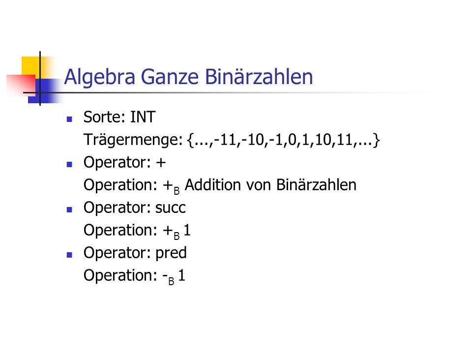 Algebra Ganze Binärzahlen