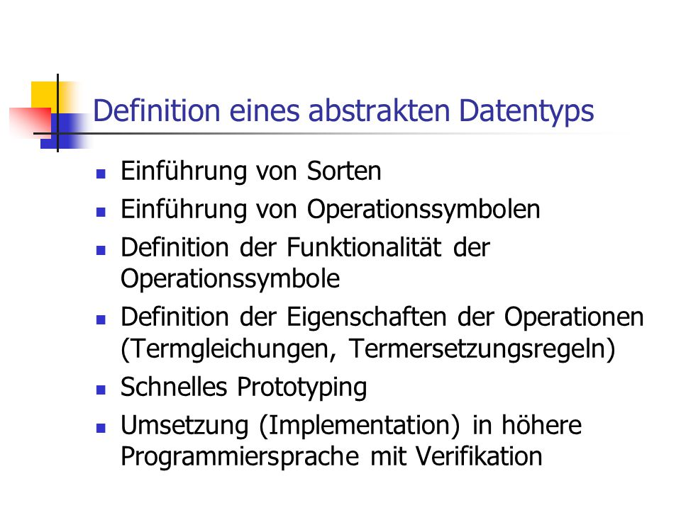 Definition eines abstrakten Datentyps