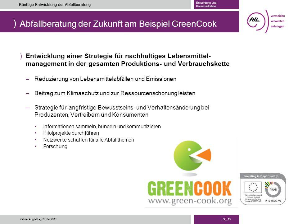 Abfallberatung der Zukunft am Beispiel GreenCook