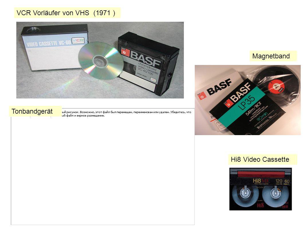 VCR Vorläufer von VHS (1971 )