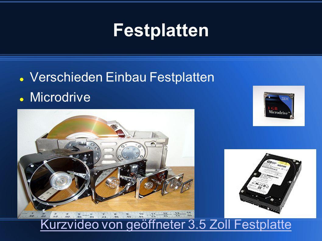 Festplatten Verschieden Einbau Festplatten Microdrive