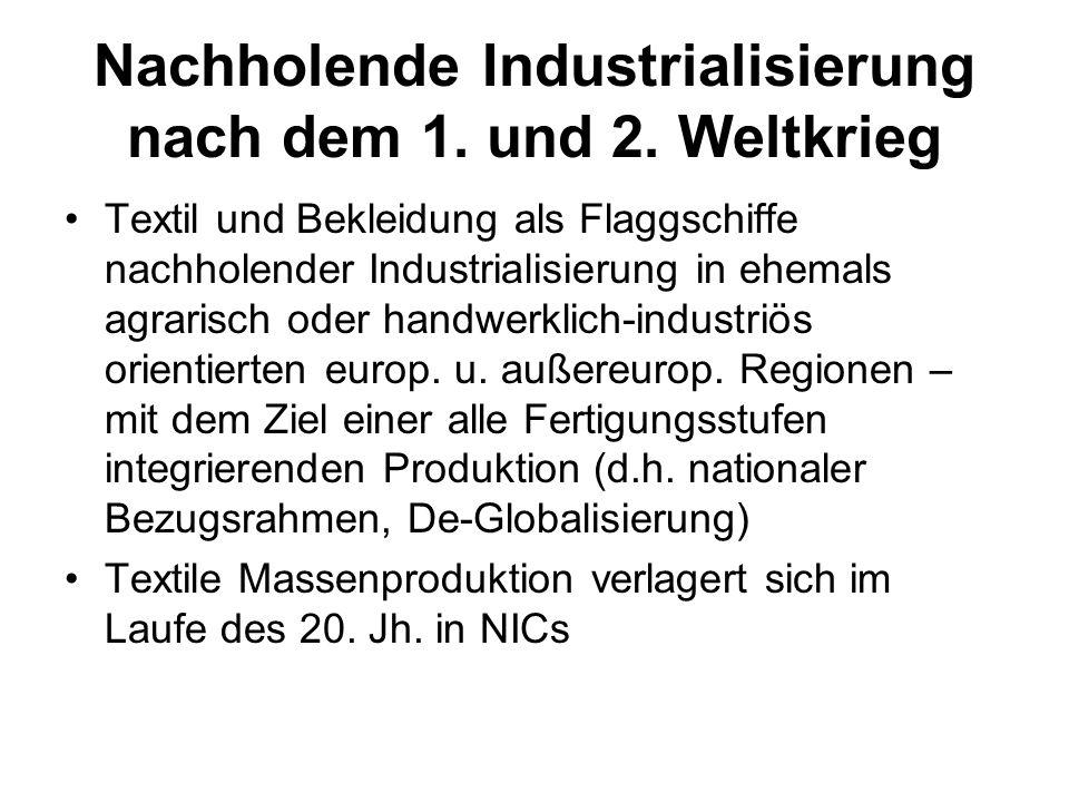 Nachholende Industrialisierung nach dem 1. und 2. Weltkrieg
