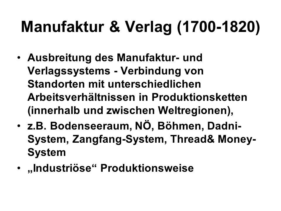 Manufaktur & Verlag (1700-1820)