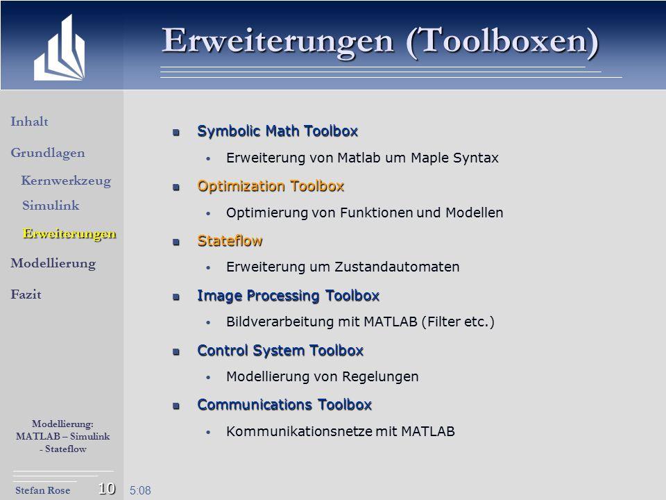 Erweiterungen (Toolboxen)