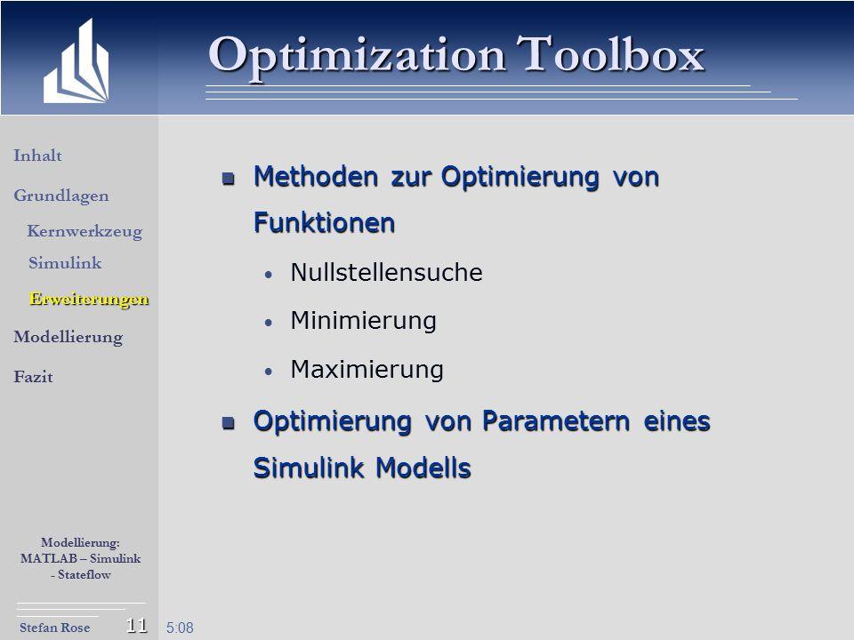 Optimization Toolbox Methoden zur Optimierung von Funktionen