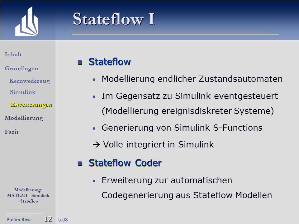 Stateflow I Stateflow Stateflow Coder