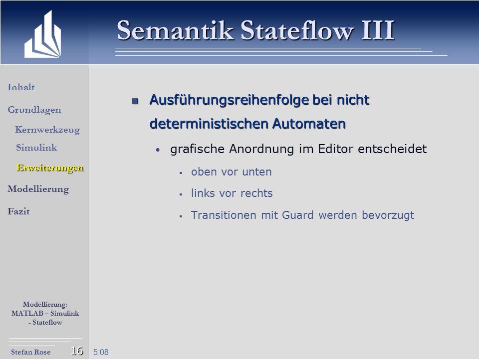 Semantik Stateflow III