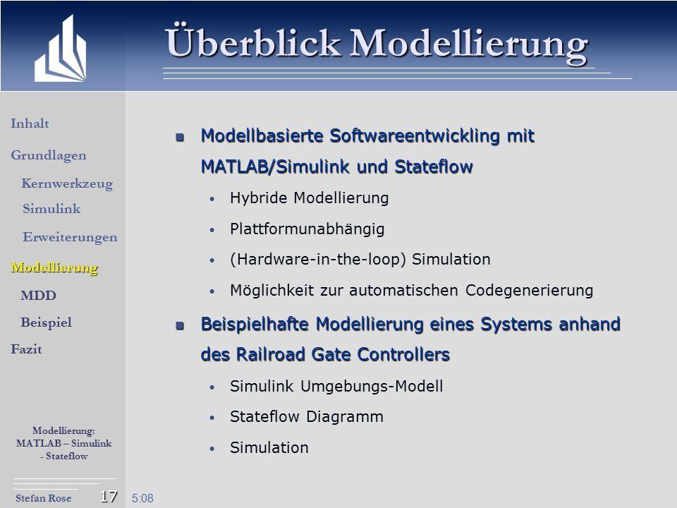 Überblick Modellierung