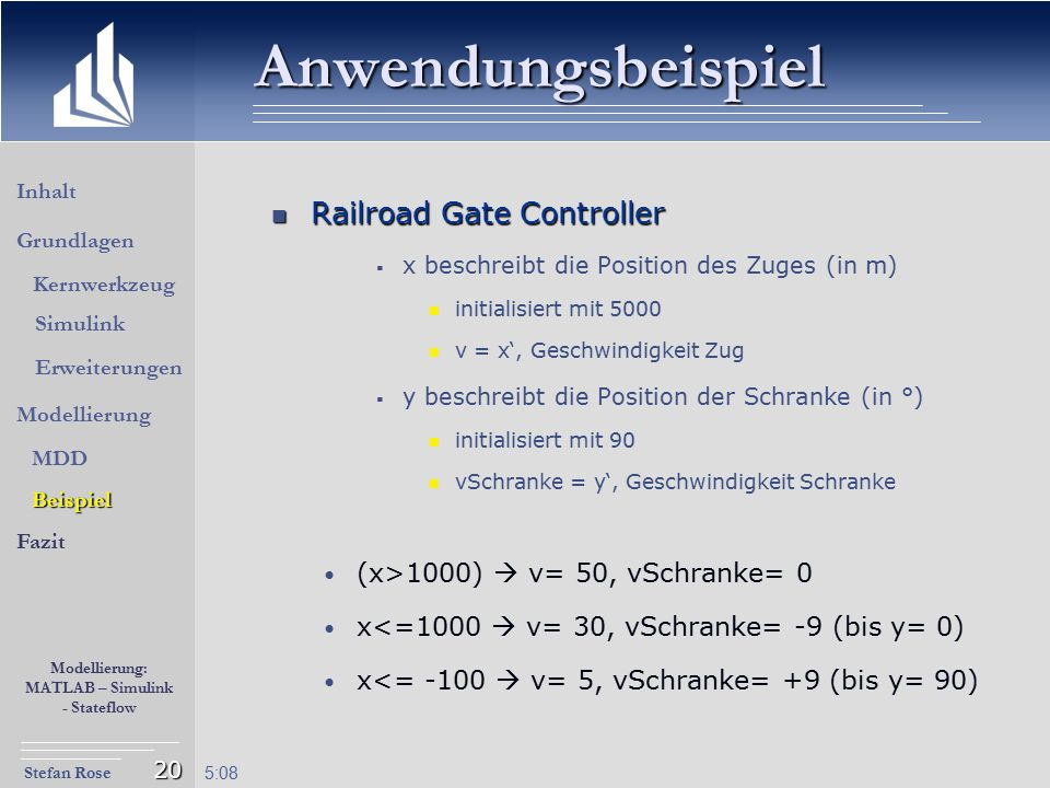 Anwendungsbeispiel Railroad Gate Controller